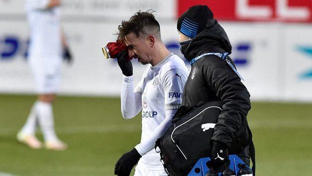 Zraněný Milan Petržela ze Slovácka.