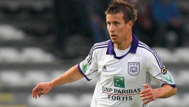 Lukáš Mareček ještě v dresu Anderlechtu Brusel.