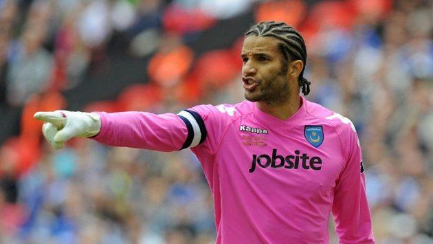 Brankář Portsmouthu David James na snímku z roku 2010.