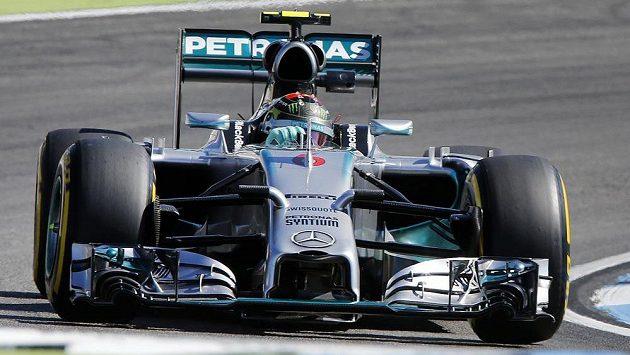 Německý pilot Nico Rosberg v tréninku na Velkou cenu Německa.