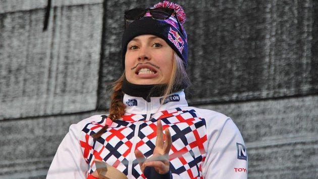 Snowboardkrosařka Eva Samková na mistrovství světa v rakouském Kreischbergu.
