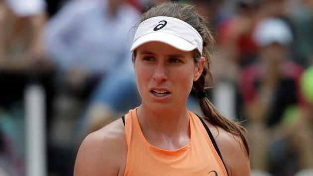 Britská tenistka Johanna Kontaová na French Open rychle dohrála a pustila se do války s novináři.