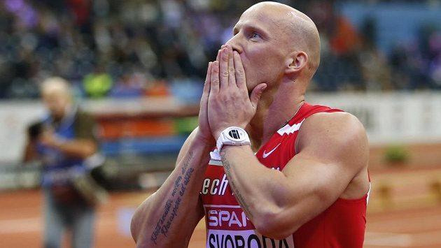 Petr Svoboda, bronzový medailista z halového mistrovství Evropy v Bělehradě.