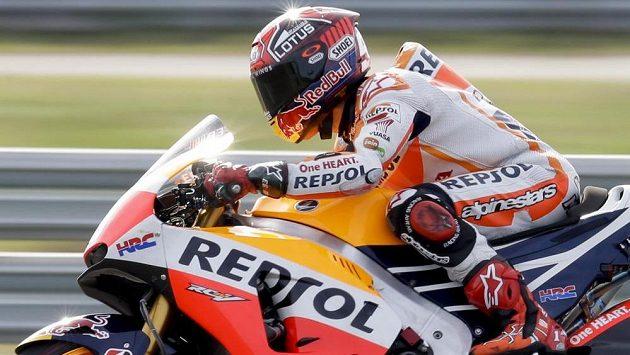 Marc Márquez ze Španělska vyhrál kvalifikaci třídy MotoGP na Velkou cenu Argentiny.