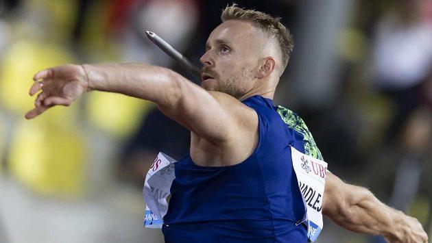 Český oštěpař Jakub Vadlejch na mítinku Diamantové ligy v Lausanne.
