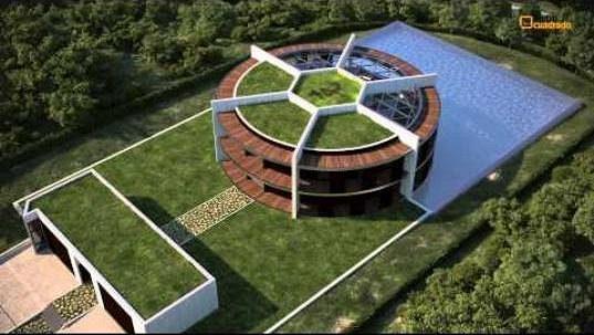 messi pl nuje stavbu vily ve tvaru fotbalov ho m e takhle bude vypadat. Black Bedroom Furniture Sets. Home Design Ideas