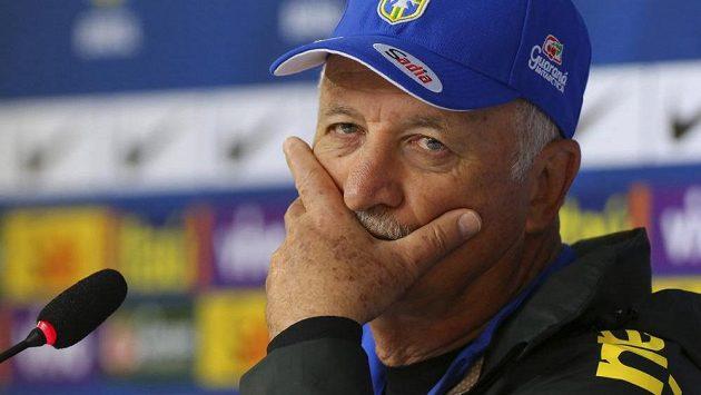 Trenér brazilských fotbalistů Luiz Felipe Scolari.