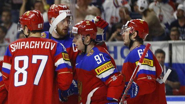 Ruská radost v utkání se Slovenskem. Celkem se dostavila šestkrát.