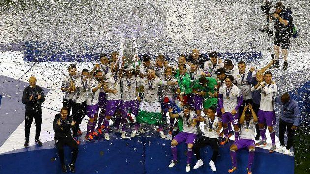 Radost fotbalistů Realu Madrid po minulém finále LM. Ilustrační snímek.