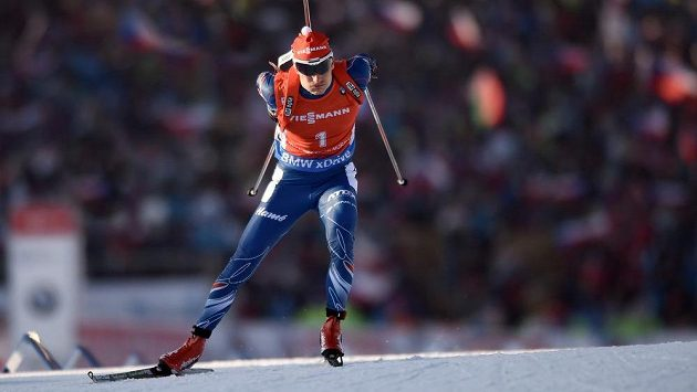 Český biatlonista Ondřej Moravec.
