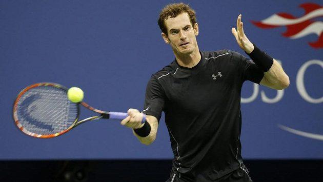 Britský tenista Andy Murray při zápase 3. kola US Open proti Brazilci Thomasi Belluccimu.