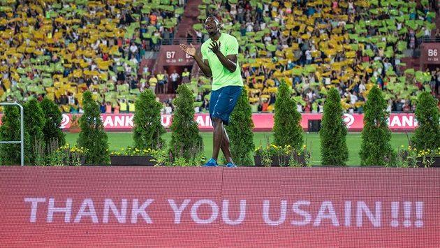 Usain Bolt v Ostravě.