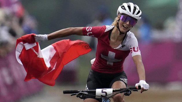 Jolanda Neffová ze Švýcarska ovládla olympijský závod v cross country.