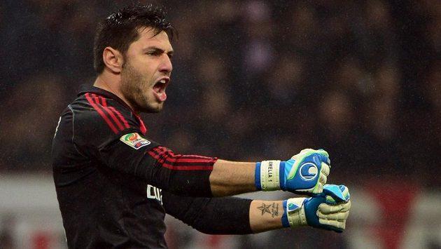 Marco Amelia ještě v dresu AC Milán.