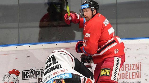 Zleva Ladislav Zikmund ze Sparty a Jiří Ondrušek z Olomouce.
