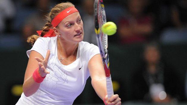 Petra Kvitová bojovala v zahajovacím duelu Turnaje mistryň marně.