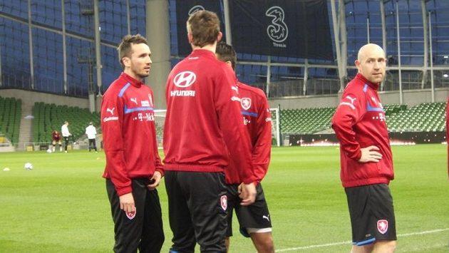 Dublinský Aviva Stadium byl místem návratu Jiřího Štajnera (vpravo) do reprezentace. A zřejmě také definitivní tečkou.