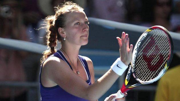 Petra Kvitová po postupu do třetího kola Australian Open.