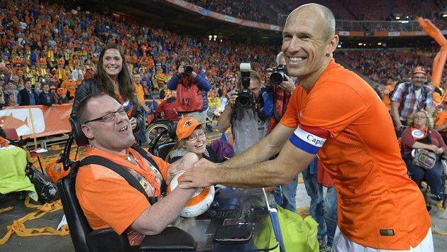 Nizozemský záložník Arjen Robben chce s Oranjes znovu do finále.