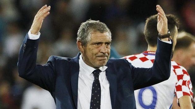 Trenér fotbalistů Portugalska Fernando Santos.