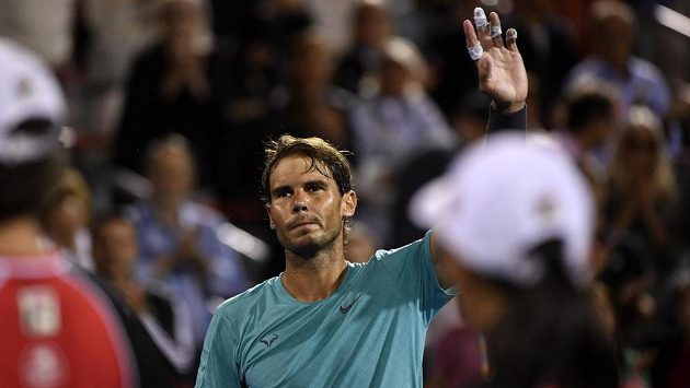 Rafael Nadal po vítězném zápase
