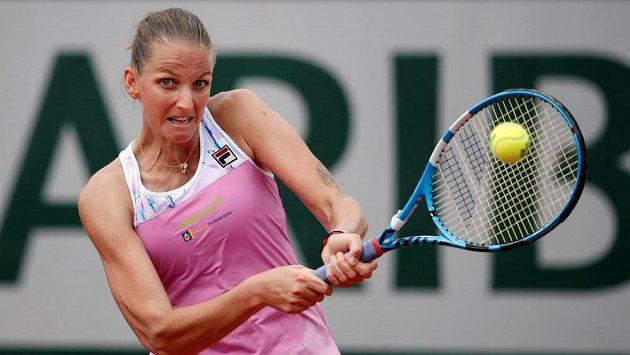 Karolína Plíšková při utkání druhého kola French Open.