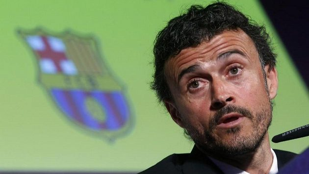 Nový trenér fotbalistů Barcelony Luis Enrique Martinez.