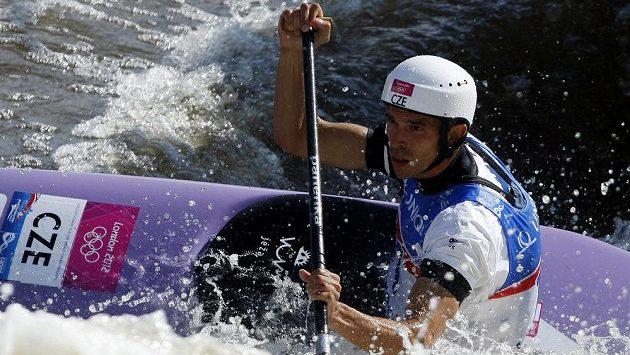 Stanislav Ježek při mistrovství světa ve vodním slalomu v pražské Troji.