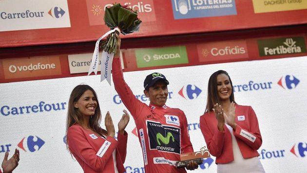 Kolumbijský cyklista Nairo Quintana z týmu Movistar nadále vévodí celkovému pořadí letošní Vuelty.