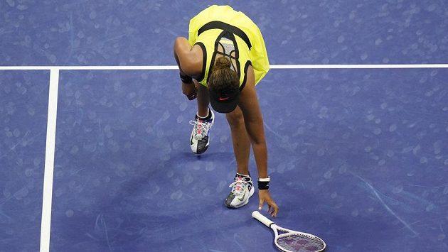 Naomi Ósakaová se neubránila vzteklým výlevům.