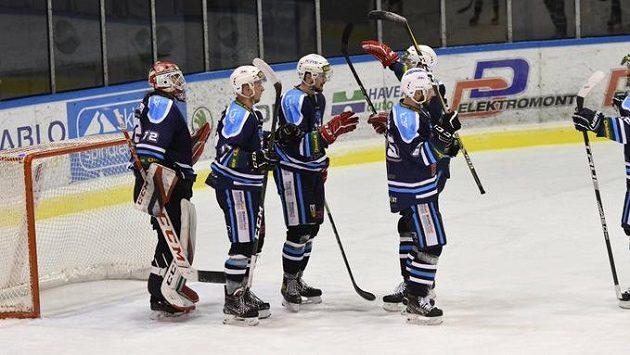 Hokejisté Vrchlabí měli po utkání s Frýdkem-Místkem důvod k úsměvům.