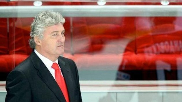 Trenér hokejistů Spartaku Moskva Miloš Říha
