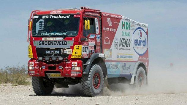 Kamion MAN nizozemské stáje VEKA