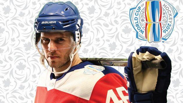 David Krejčí na archivním snímku v dresu české reprezentace pro Světový pohár.