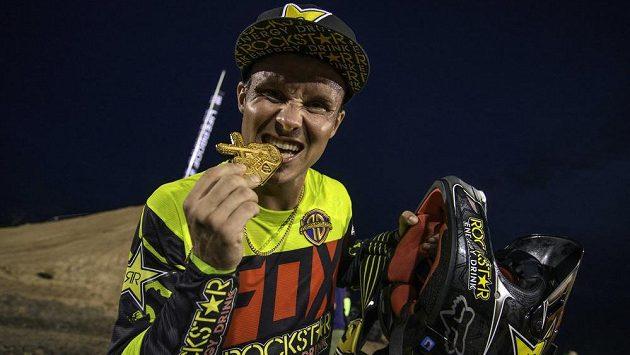 Freestyle motokrosař Libor Podmol a jeho zlatý úlovek z X-Games v texaském Austinu.