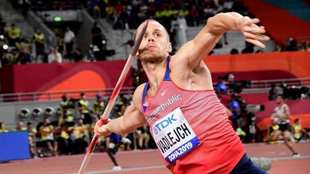 Oštěpař Jakub Vadlejch ve finále mistrovství světa v Dauhá.