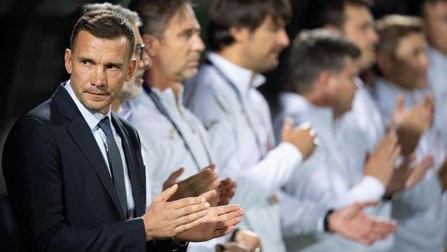 Dnes již bývalý trenér Ukrajiny Andrej Ševčenko během utkání Ligy národů