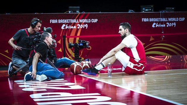 O lídra českého týmu Tomáše Satoranského je mezi zástupci médií zájem.