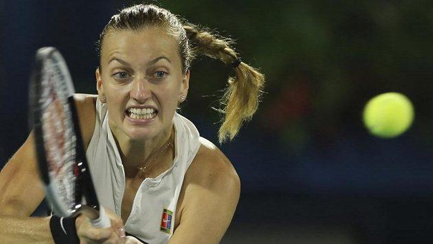 Petra Kvitová ve finále turnaje v Dubaji.