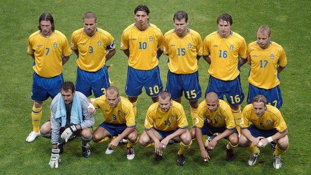 Švédská fotbalová reprezentace na ME v roce 2004.