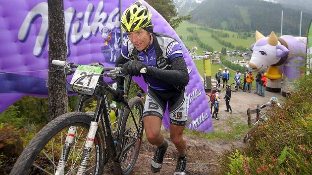 Kristián Hynek na trati Alpentour v Rakousku (ilustrační foto).