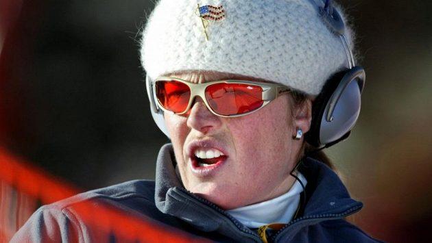 Bývalá slavná americká lyžařka Picabo Streetová na snímku ze ZOH v roce 2002 v Salt Lake City.