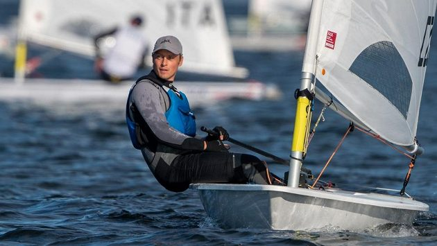 Viktor Teplý při regatě třídy Laser Standard na evropském šampionátu v Gdaňsku.