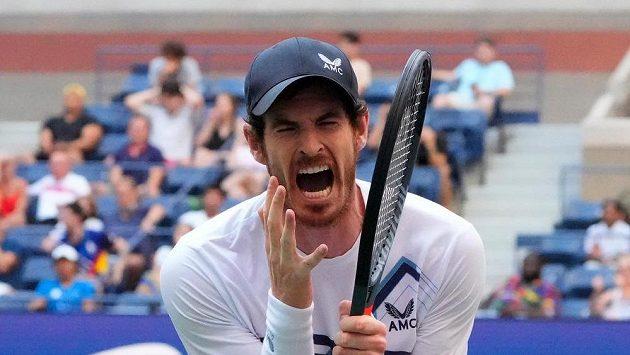 Andy Murray během prvního kola US Open.