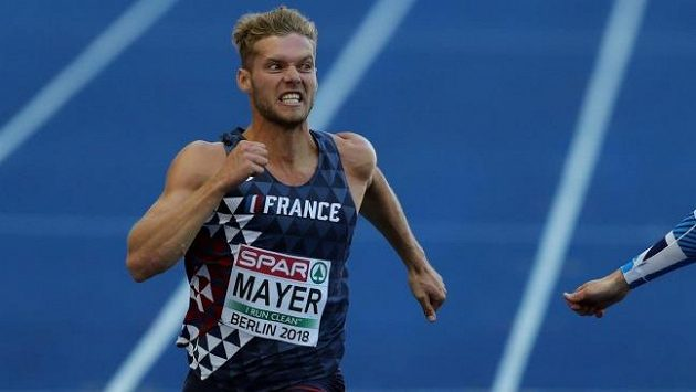 Kevin Mayer při mistrovství Evropy v Berlíně.