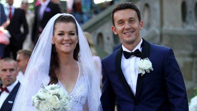 Tenistka Agnieszka Radwaňská a její manžel Dawid Celt.