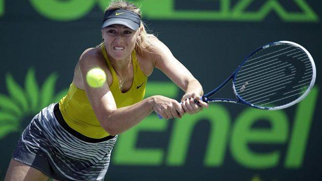 Maria Šarapovová returnuje v utkání s Petrou Kvitovou na turnaji v Miami