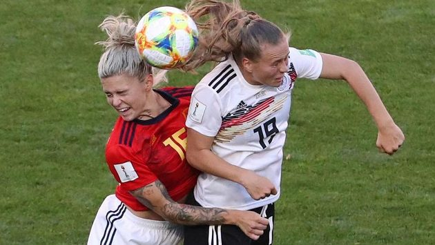 Fotbalistky Německa porazily ve svém druhém utkání na mistrovství světa ve Francii 1:0 Španělsko.