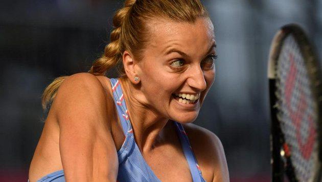 Petra Kvitová ve finále exhibičního turnaje v Berlíně.