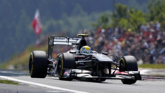 Pilot ze stáje F1 Sauber Gutierrez.